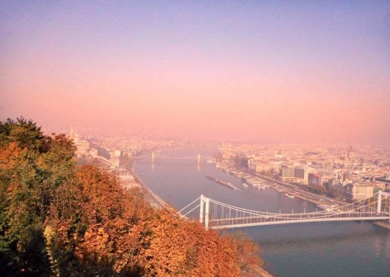View from Gellért Hill budapest