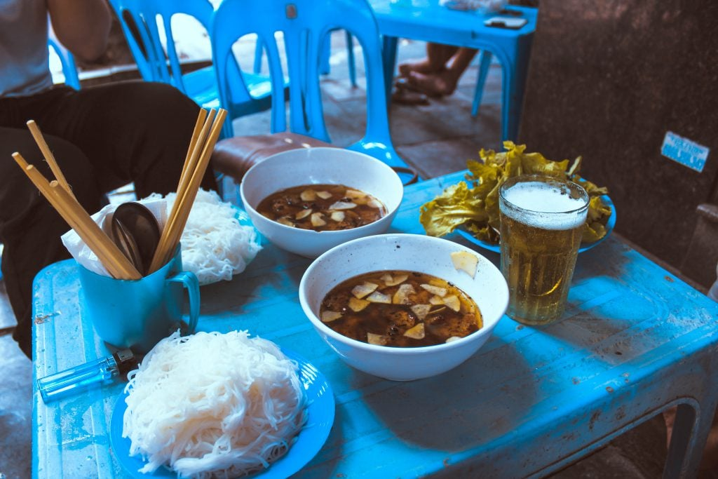 bun cha food in vietnam
