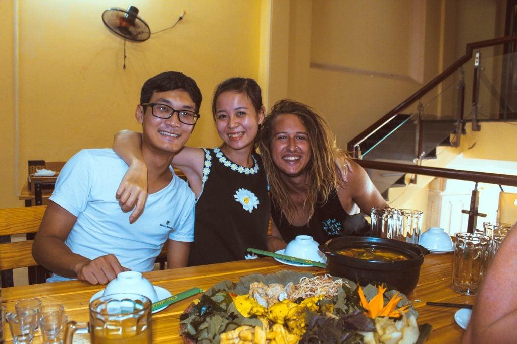 food in vietnam with friends