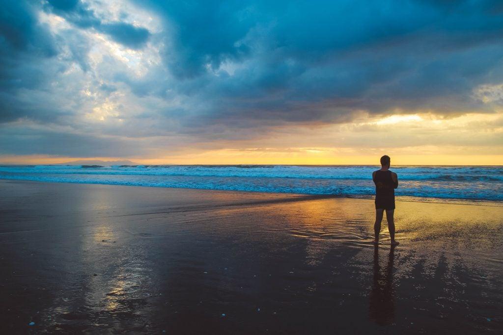 Black sand beach NZ