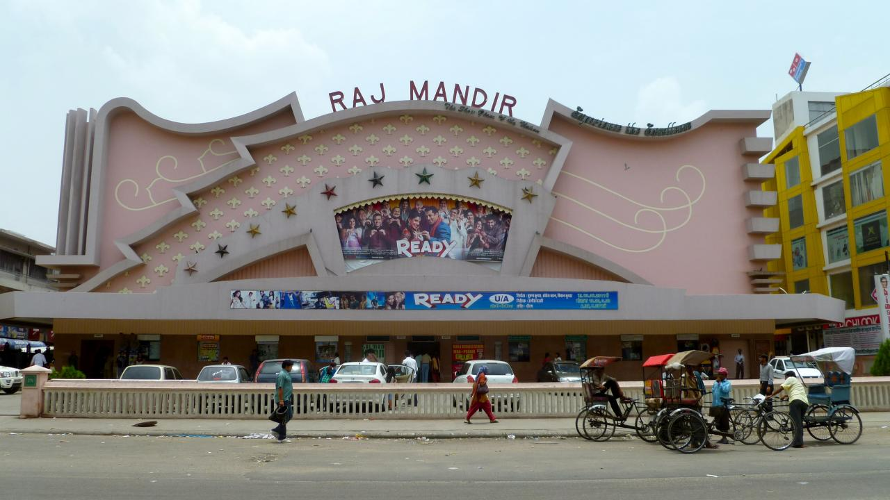 The Raj Mandir Cinema; Jaipur India
